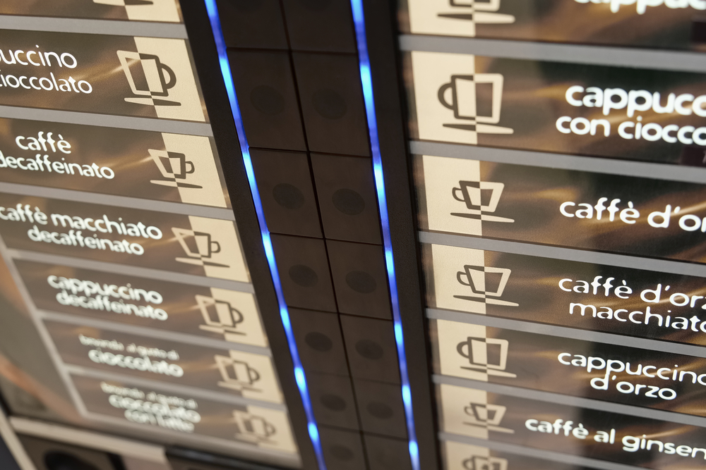 Kaffeevollautomat mit Münzeinwurf